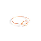 Small Geometric Rose Gold Ring