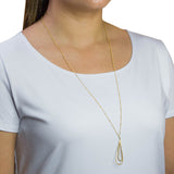 Kauai Hammered Tear Necklace - Gold
