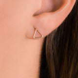 Whitney Stud Earrings - Rose Gold