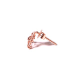 Whitney Woven Stud Earrings - Rose Gold