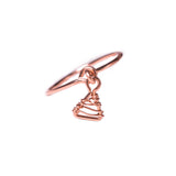Blanc Woven Dangle Ring - Rose Gold
