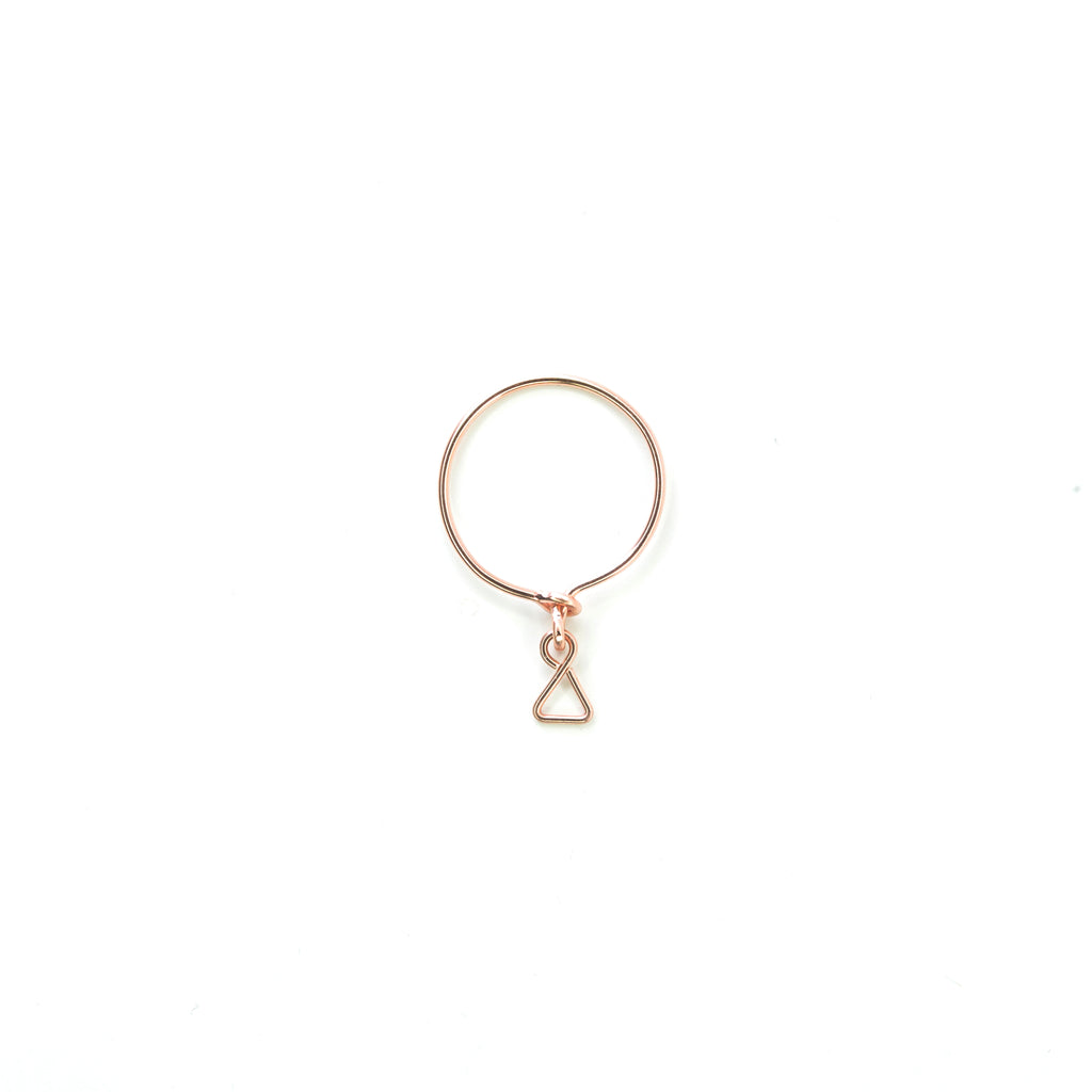 Blanc Dangle Ring - Rose Gold