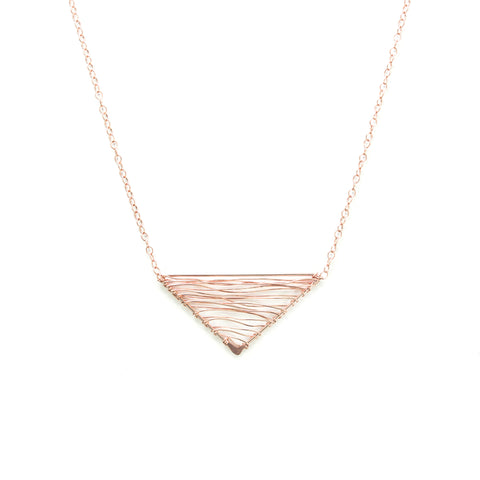 Fuji Woven Necklace - Rose Gold