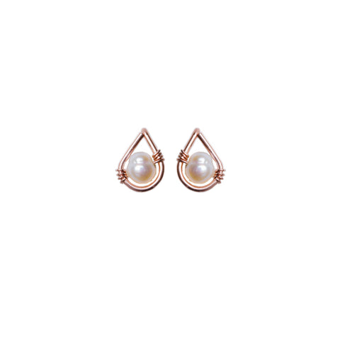 Rain Stud Earring - Rose Gold