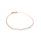 Thin Rose Gold Bracelet with Swarovski Crystal