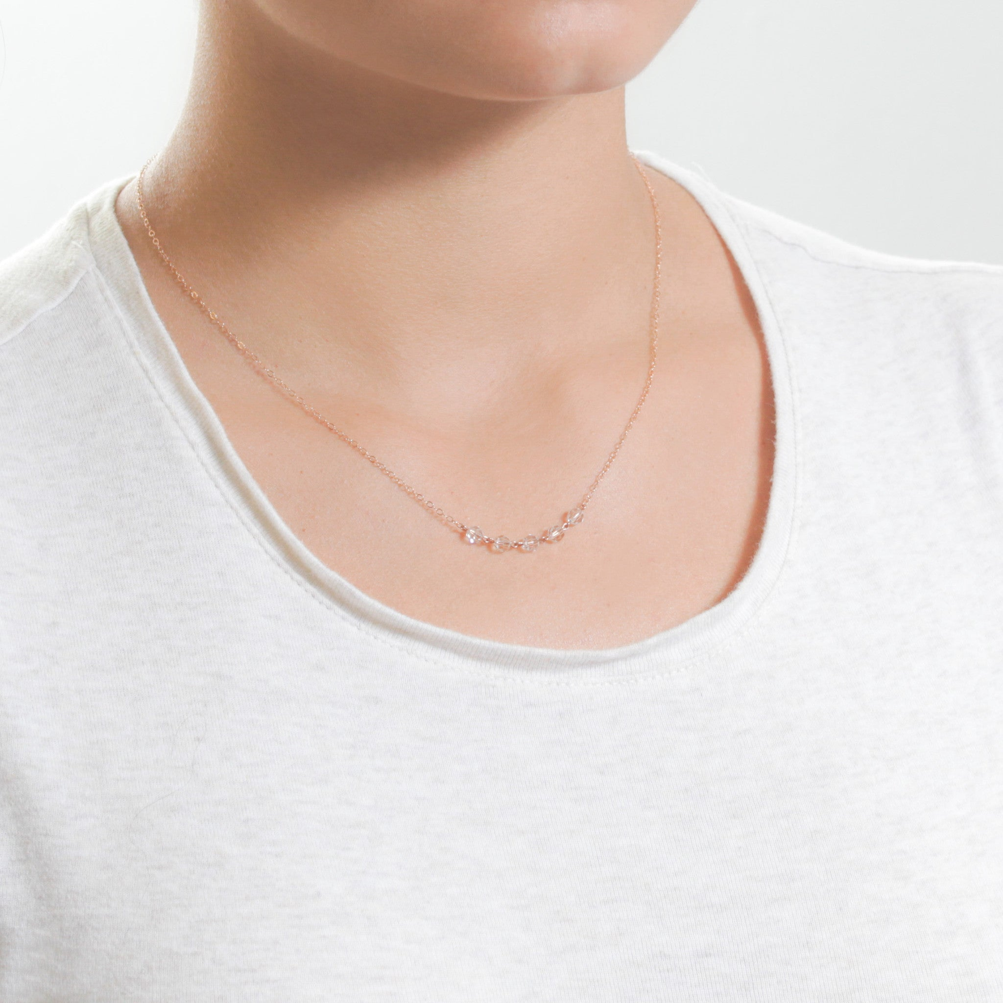 simple necklace silver gold sterling shop jewelry rose oneiro thin