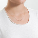 Strand Necklace - Thin Rose Gold Necklace with Swarovski Crystals