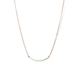 Swing Necklace - Rose Gold and Miyuki Glass Bead Necklace