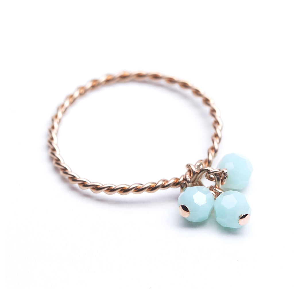 Sweetgum Ring - Rose Gold & Mint Green