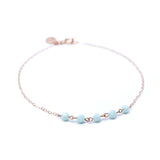 Thin Rose Gold Bracelet With Mint Green Swarovski