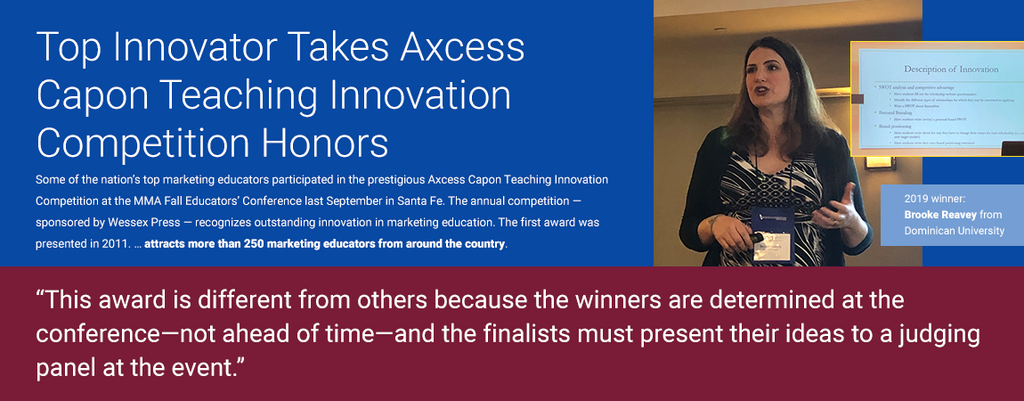 Top Innovator Takes Axcess Capon Teaching Innovation Competition Honors