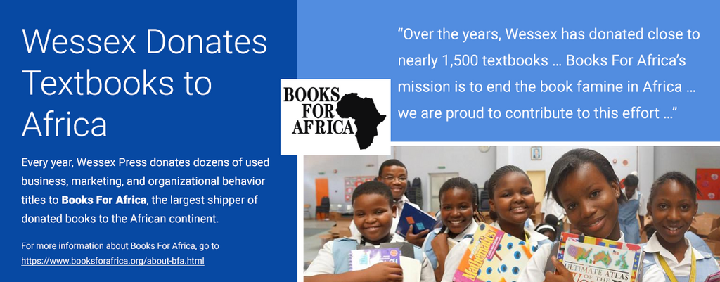 Wessex Press Donates Textbooks to Africa