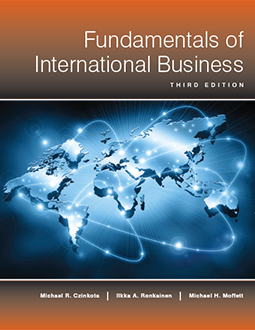 Fundamentals of International Business 3rd Edition, by Czinkota, Ronkainen, and Moffett