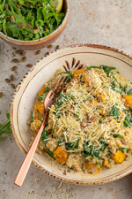 Pumpkin Risotto with Lemon Rocket Salad