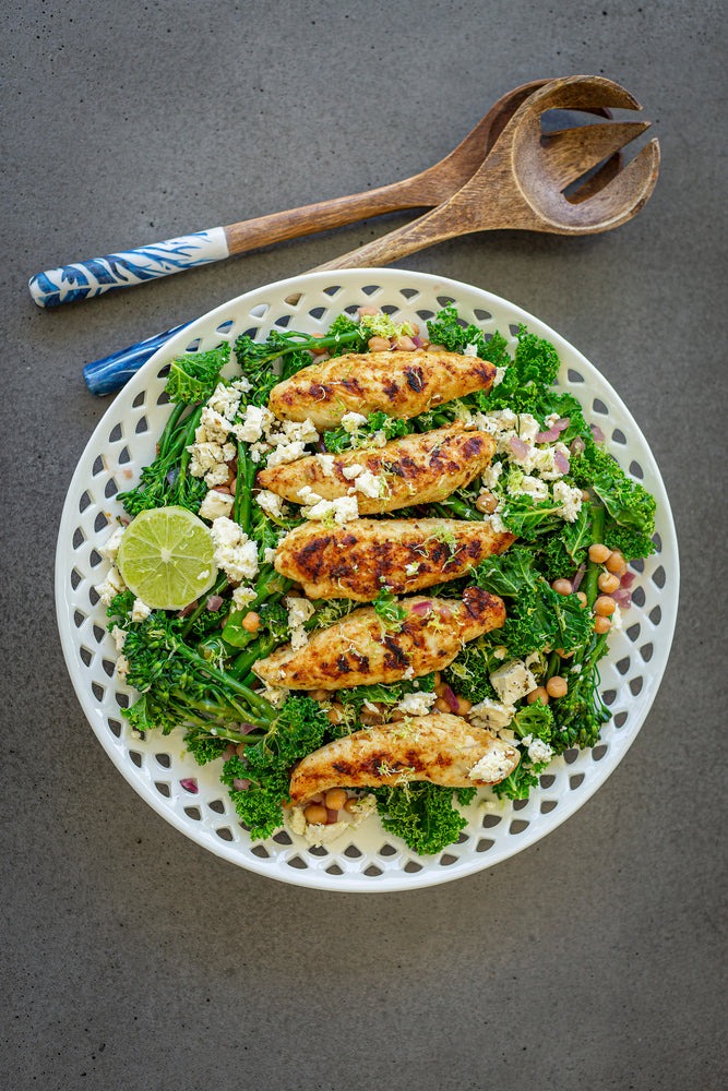 Citrus Chicken with Greens