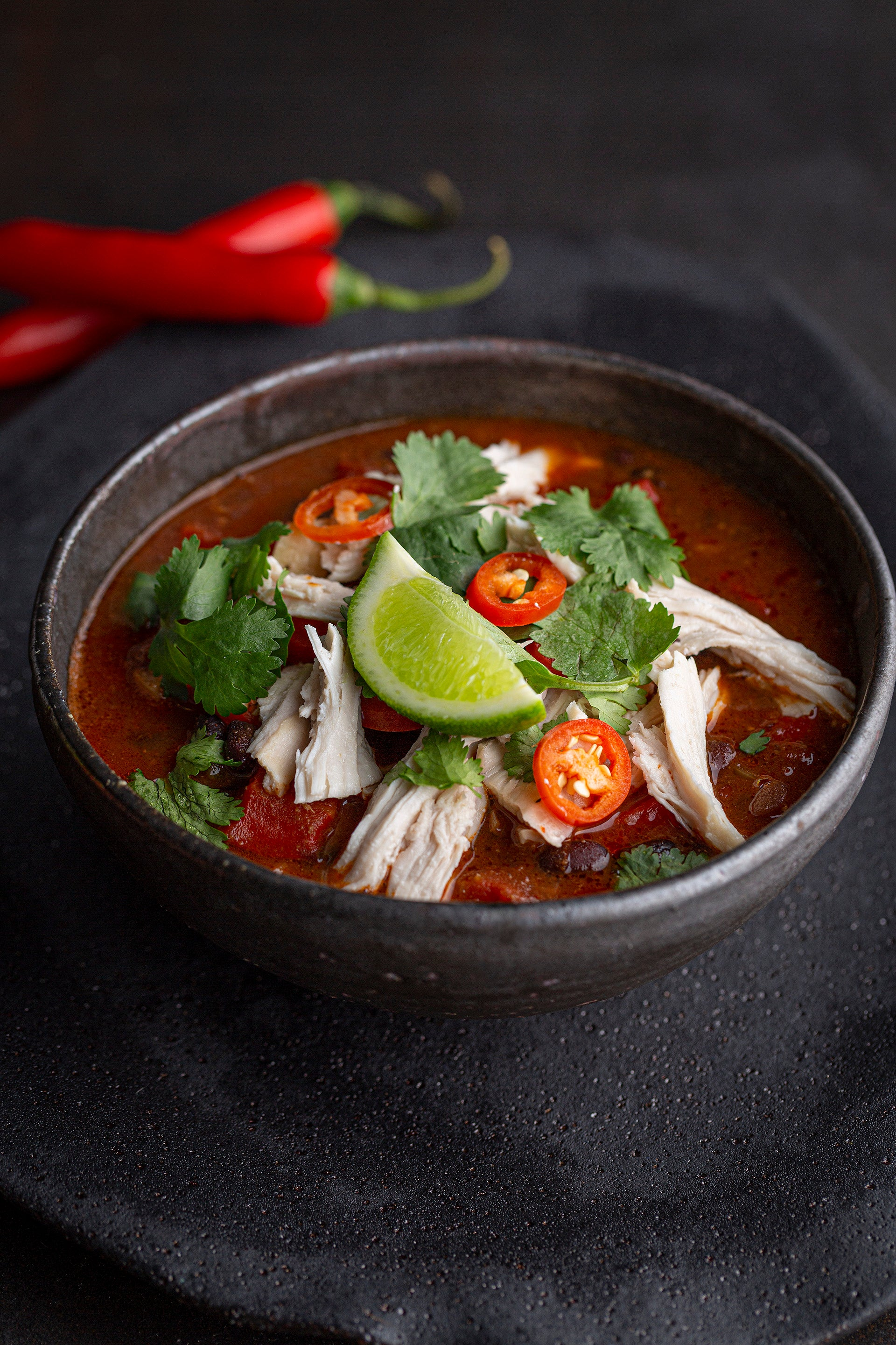 Mexican Bean Soup with Chicken & Lime