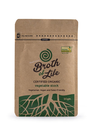 90 gram pouch of Organic Vegetable Stock