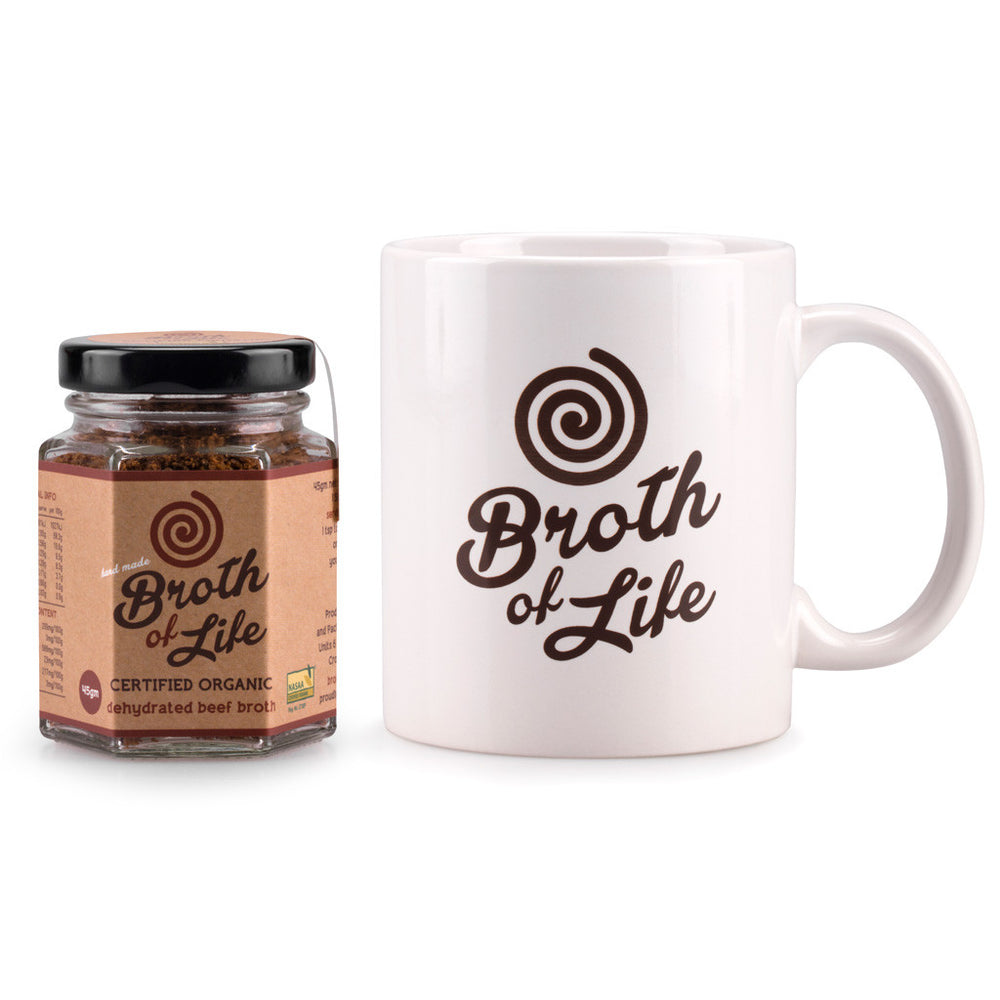 Beef Bone Broth + Mug Pack