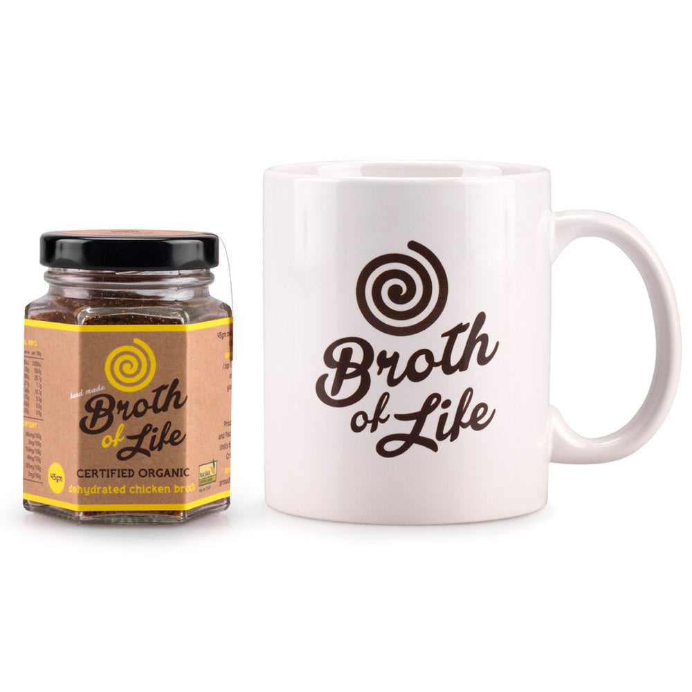 Chicken Bone Broth + Mug Pack