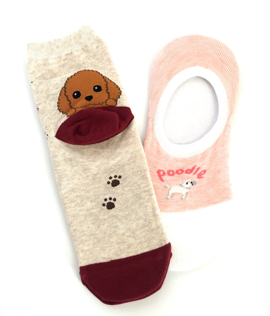 Poodle Socks - Chew Time - 1