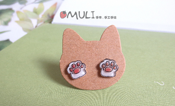 Pawprint Earrings