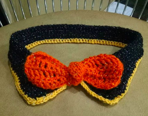 Crochet Premium Collar Bow