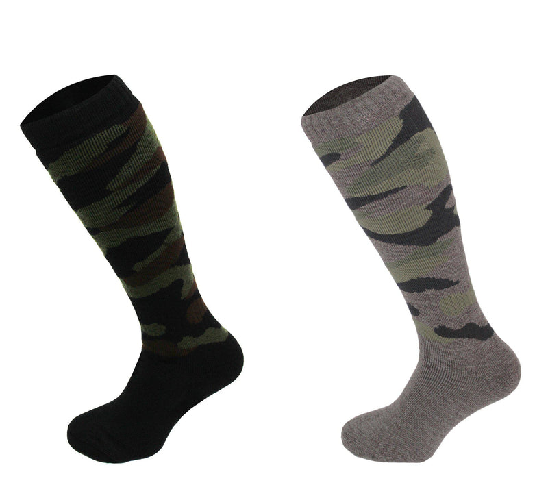 544 - Men's Knee High Camouflage Socks (2 Pack - Black) - Oxford Blue