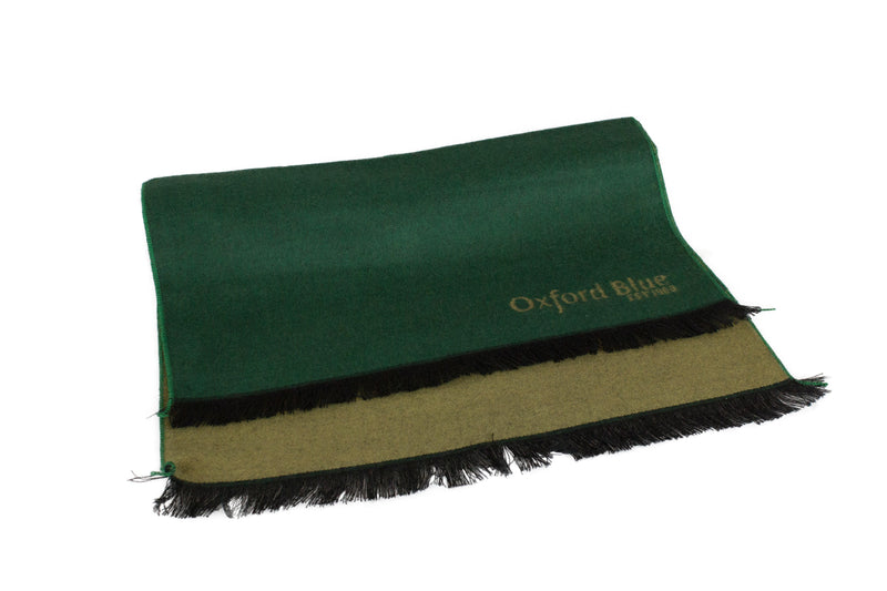 Oxford Blue 2 Tone Scarf - Green - Oxford Blue