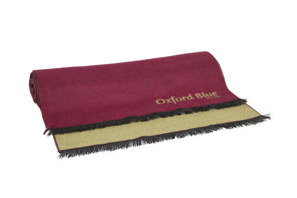 Oxford Blue 2 Tone Scarf - Maroon - Oxford Blue