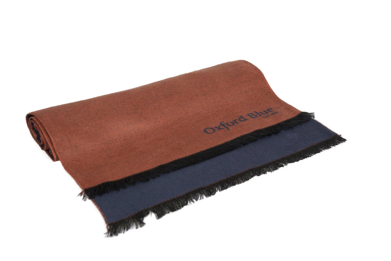 Oxford Blue 2 Tone Scarf - Orange - Oxford Blue