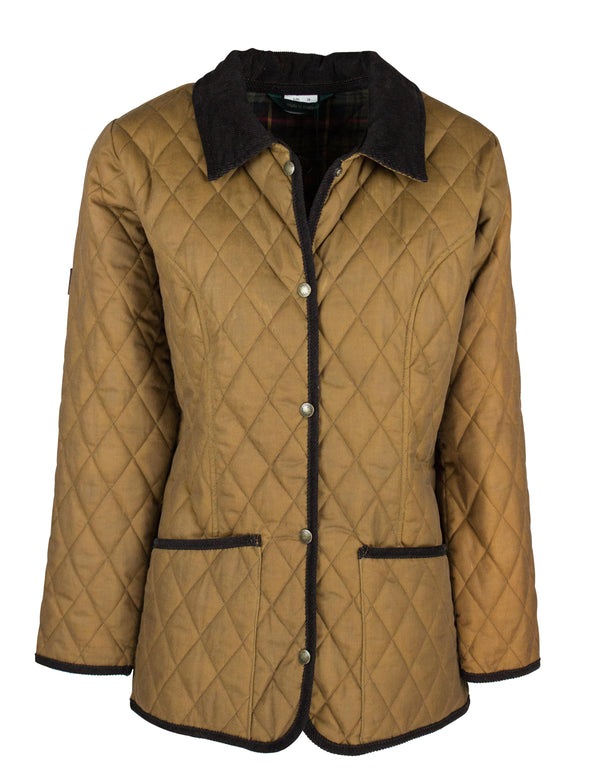 CONW61 - Women's Highgate Quilted Wax Jacket - Oxford Blue
