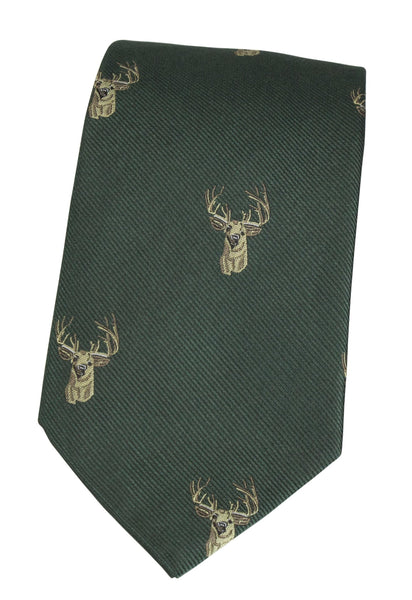 GT11 - 100% Silk Woven Tie - Stag