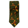 GT1 - Silk Tie - GREEN - Oxford Blue