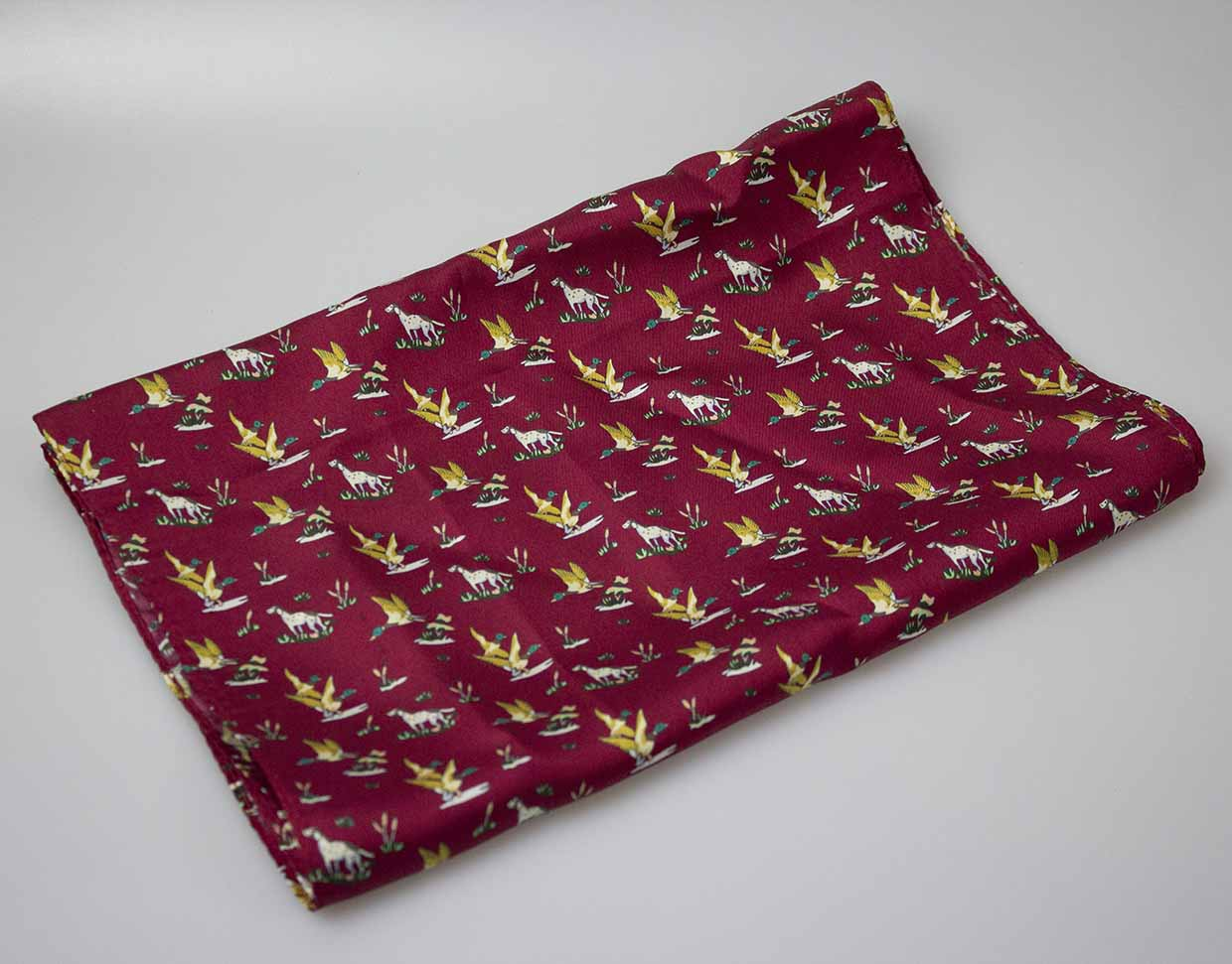 GT3 - Silk Scarf - WINE - Oxford Blue