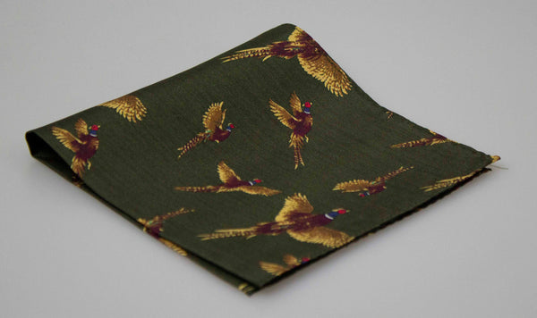 GT4 - Silk Hankerchief - GREEN - Oxford Blue