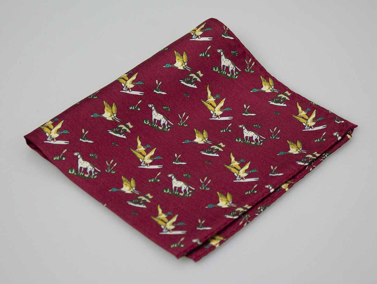 GT4 - Silk Hankerchief - WINE - Oxford Blue