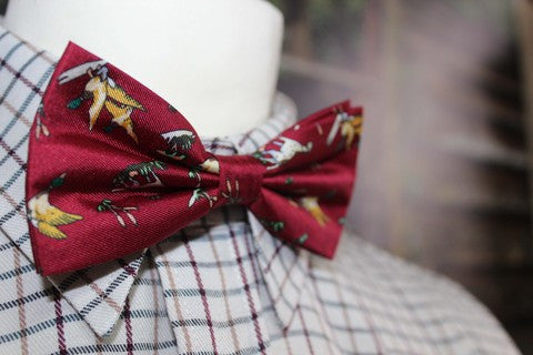 GT5 - Silk Bow Tie - WINE - Oxford Blue