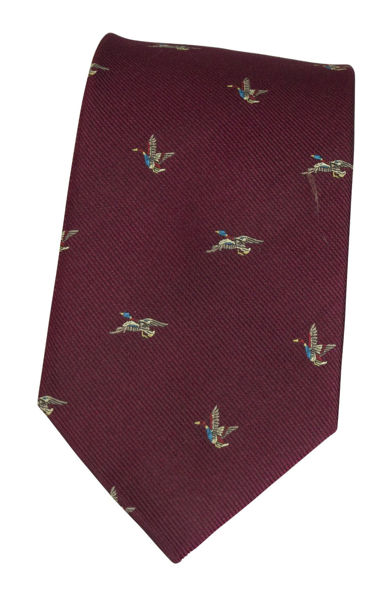 GT8 - 100% Silk Woven Tie - (2 Ducks) - Oxford Blue