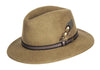 HW01 - Unisex Fedora Wool Hat - CAMEL - Oxford Blue