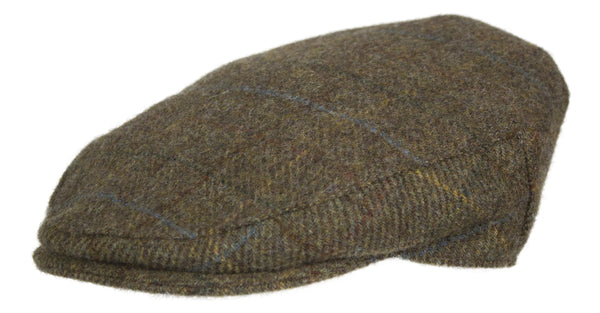 HW20 - Walker Wool Tweed Cap - Oxford Blue