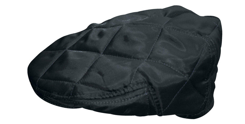 HW30 - Quilted Flat Cap - BLACK - Oxford Blue