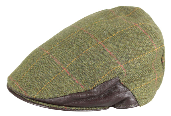 HW32L - Men's Tweed Cap (Leather) - LOVAT (5433/22) - Oxford Blue