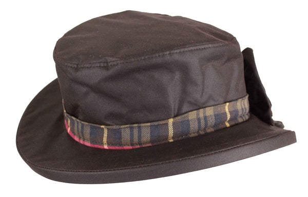 HW33 - Women's Thelma Wax Hat - BROWN - Oxford Blue
