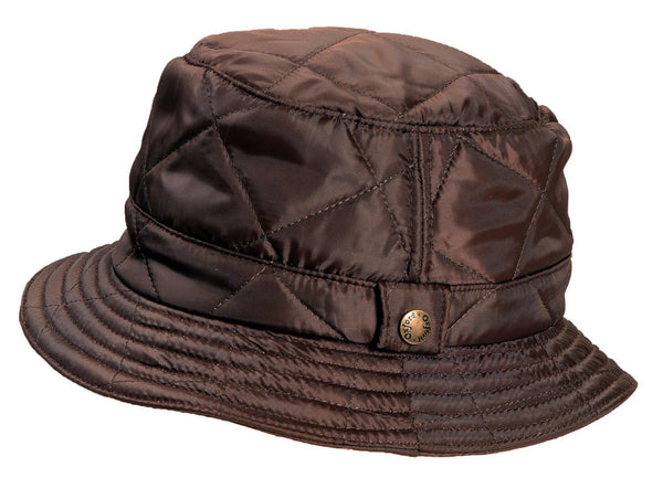 HW34 - Men's Quilted Bush Hat - Oxford Blue