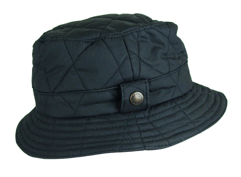 HW36 - Quilted Wax Bush Hat - Oxford Blue