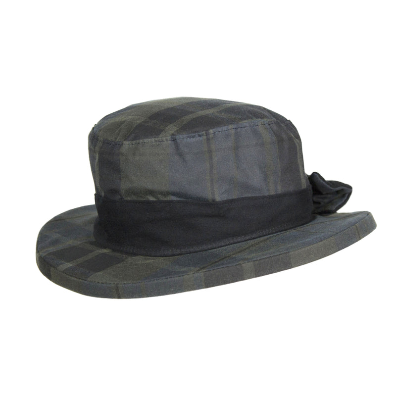 HW38 - Women's Thelma Tartan Wax Hat - Oxford Blue