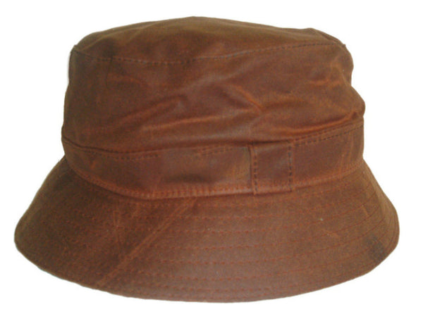 HW55 - Antique Wax Bush Hat - Oxford Blue