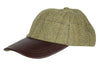 HW59 - Leather Peak Tweed Baseball Cap - SAGE (5433/21) - Oxford Blue