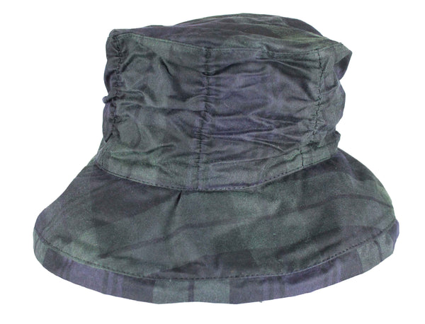 HW69 - Women's Tartan Chelsea Hat - BLACKWATCH - Oxford Blue