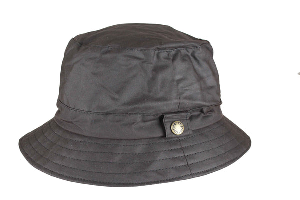 HW77 - Wax Bush Hat - BROWN - Oxford Blue